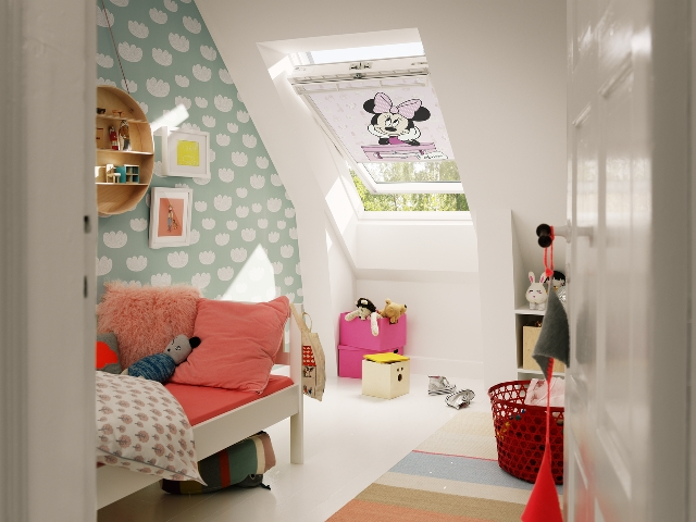 Picture of Newcastle Blinds Minnie Mouse Velux Blind